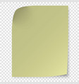 sticky note isolated on transparent background vector image