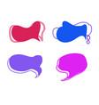 text balloon set image vector image vector image