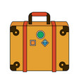 travel suitcase symbol vector image vector image