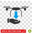 Unload Drone Eps Icon vector image vector image
