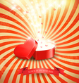 Valentines day background with an open red gift