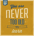 Vintage Quote Typographic Background vector image vector image