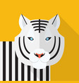 white tiger icon set of great flat icons design vector image vector image