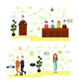 set of law court people symbols icons in vector image