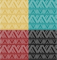 Set of simple ethnic geometric seamless pattern vector image