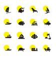 16 ocean icons vector image vector image