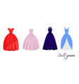 a set of ball gowns vector image