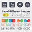 Avatar icon sign Big set of colorful diverse vector image vector image
