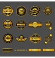 Badges tag label sticker gold set For business vector image