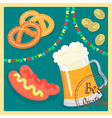 beer flags vector image