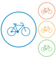 bicycle - bike icon vector image