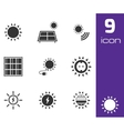 black solar energy icons set vector image