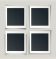 blank photo frames with different shadows on the vector image vector image