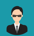 bodyguard characte icon great of character use vector image