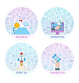 business concepts set 2 vector image vector image