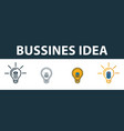business idea icon set four elements in diferent vector image vector image