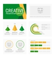 Business presentation template slides vector image