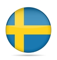 button with flag of Sweden vector image vector image