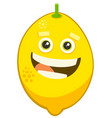 cartoon lemon fruit character vector image vector image
