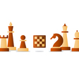 chess debut tournament event club strategy vector image