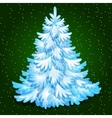 Christmas tree merry Christmas greeting card vector image vector image
