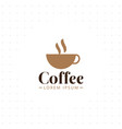 coffee cup logo design template vector image vector image