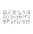 coffee horizontal vector image vector image
