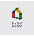 construction logo real estate emblem vector image vector image