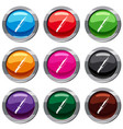 dagger set 9 collection vector image vector image