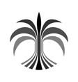 digital palm tree logo creative concept vector image vector image