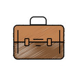elegant briefcase to save business documents vector image vector image