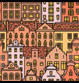 europe house seamless pattern cute architecture vector image