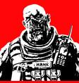 fat zombie soldier vector image vector image