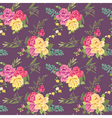 flower background with roses vector image vector image