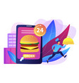 food delivery service concept vector image