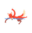 fox swimming in swimming pool funny sportive wild vector image vector image