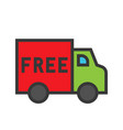 free delivery online shopping filled style icon vector image vector image