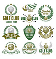 Golf logo set vector image vector image