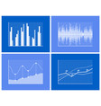graphical charts collection vector image vector image