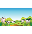 Group of cows vector image vector image