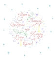 Handdrawn Colorful Christmas Card vector image vector image