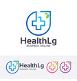 health logo design vector image vector image
