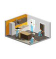 home repair renovation interior builders people vector image