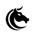 horse c shaped stylized graphic black and white vector image
