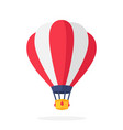 hot air balloon with red and white stripes vector image
