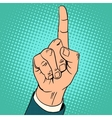 Index finger up gesture vector image vector image