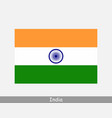 india indian national country flag banner icon vector image vector image