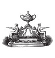 inkstand tray vintage engraving vector image vector image
