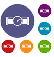 instrument measures the pressure in the pipe icons vector image vector image