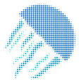 jellyfish halftone icon vector image